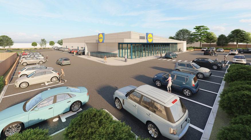 Proposed 3D Visual Lidl Store Bishop's Stortford