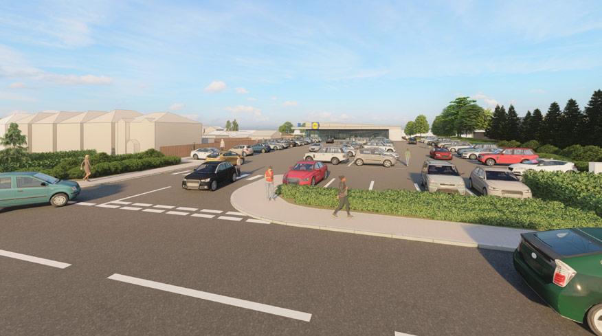 Proposed 3D Visual Lidl Store Bishops Stortford