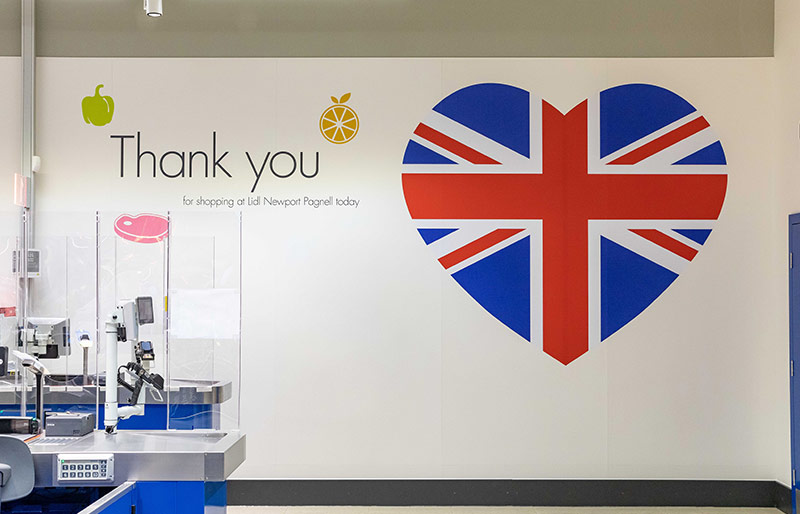 Lidl Thank You sign